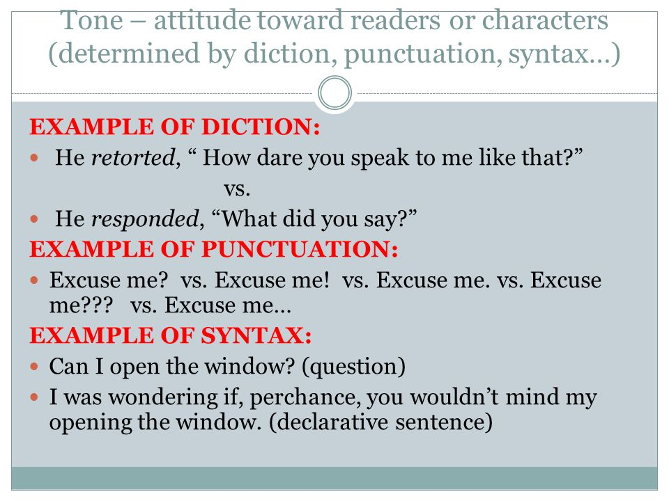how stylistic techniques define character and the speakerís attitude essay Voice includes many different literary devices and stylistic techniques, including syntax, semantics, diction, dialogue, character development, tone, pacing, and even punctuation though the definition of voice can feel like a somewhat nebulous concept, voice is integral to appreciating a piece of literature.