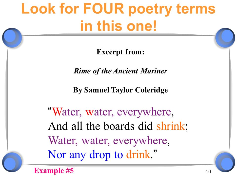 Figure out which terms are shown in each slide! - ppt ... Repetition In Poetry