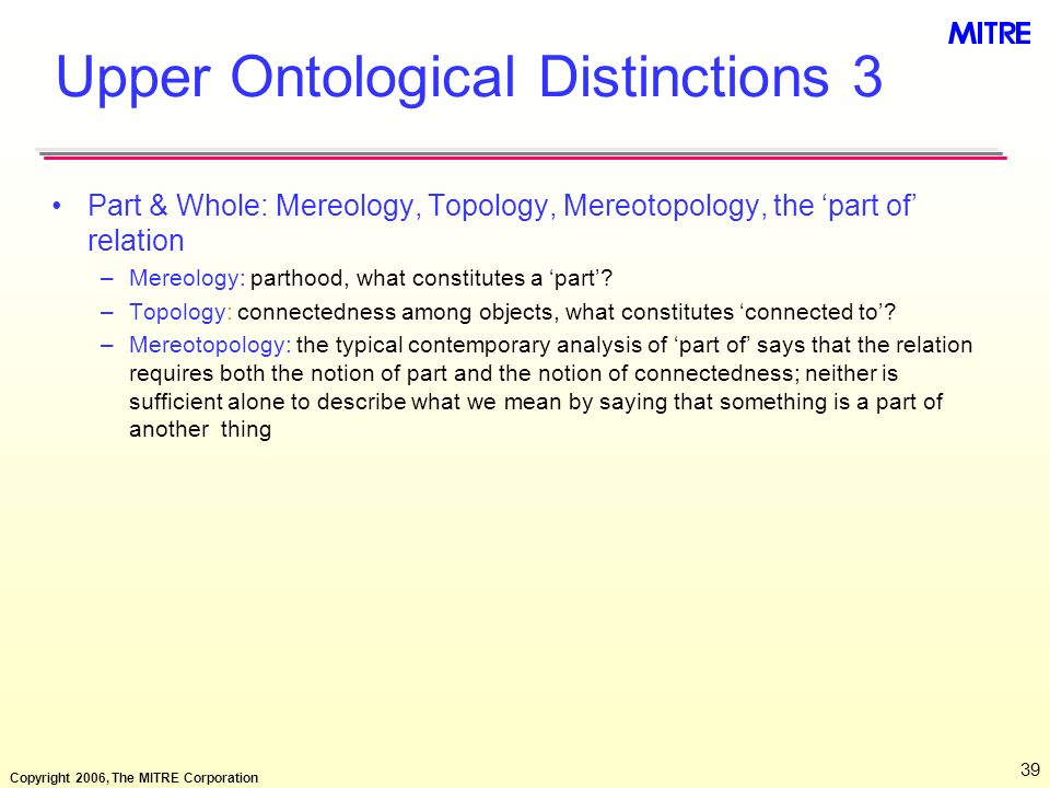 Upper Ontological Distinctions 3