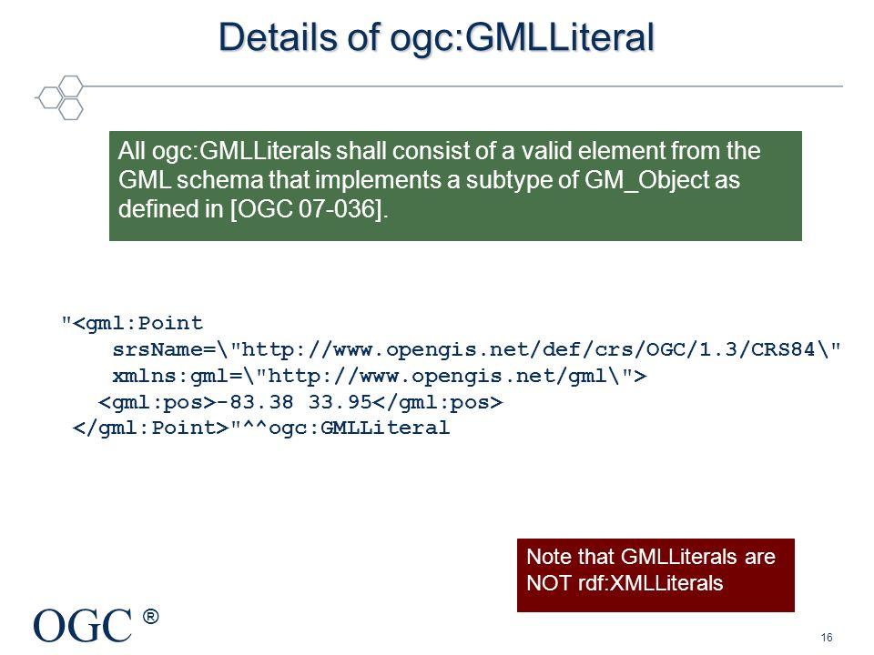 Details of ogc:GMLLiteral