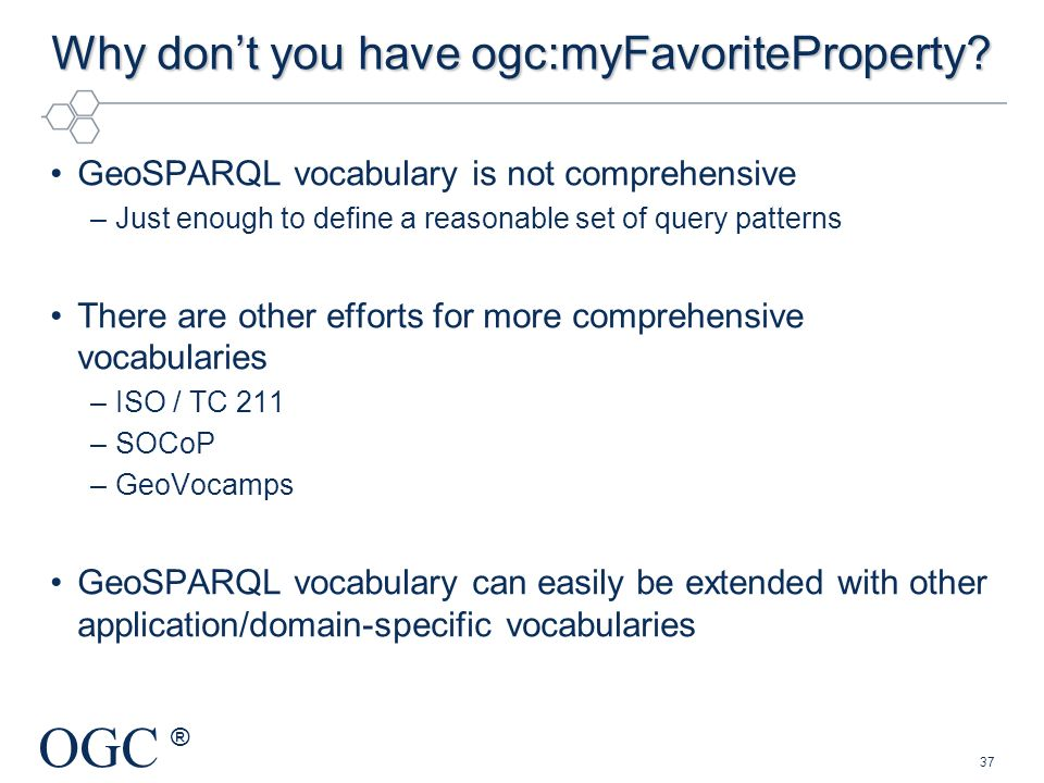 Why don't you have ogc:myFavoriteProperty