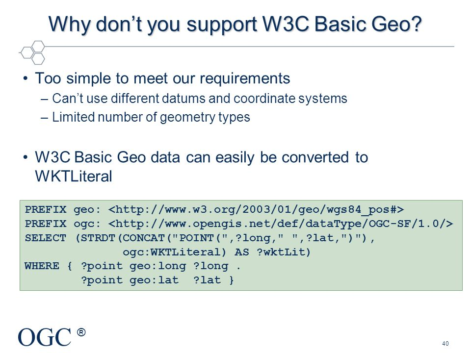 Why don't you support W3C Basic Geo