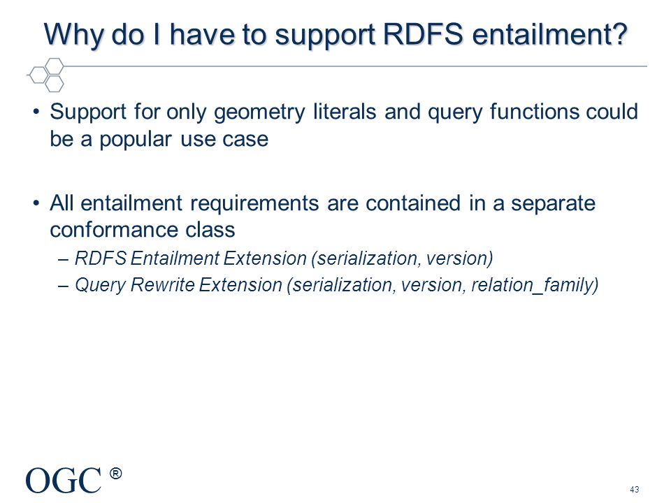 Why do I have to support RDFS entailment