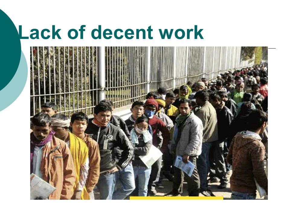 Lack of decent work