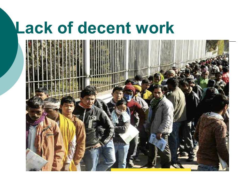 Lack of decent work