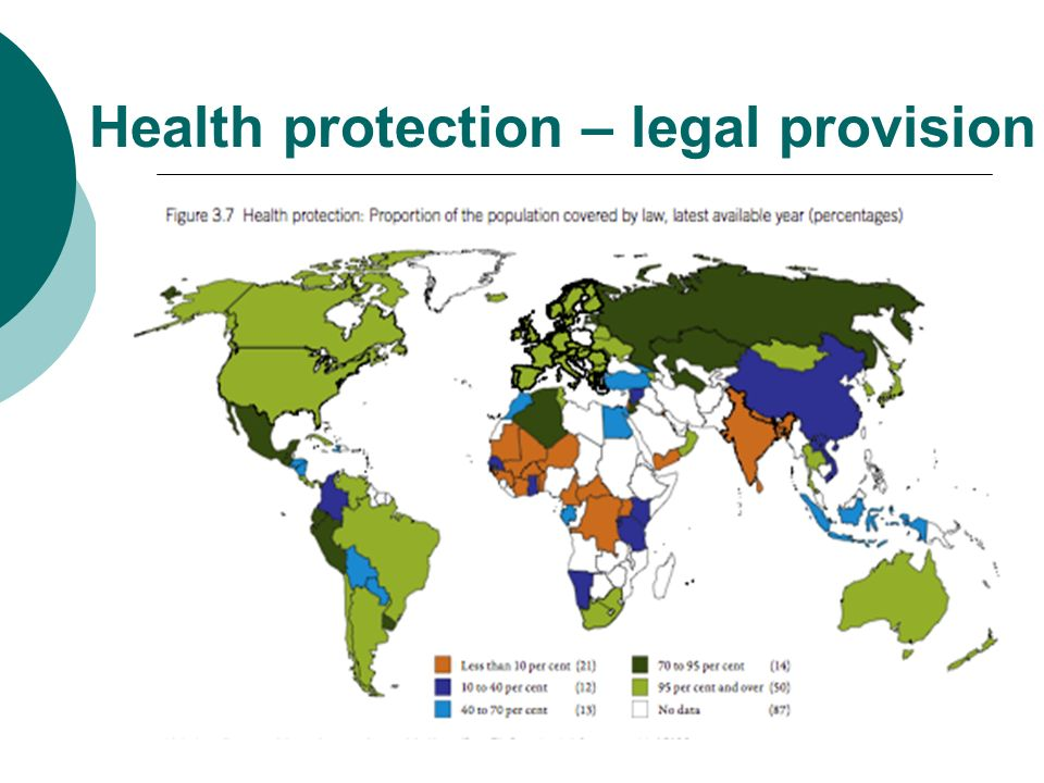 Health protection – legal provision