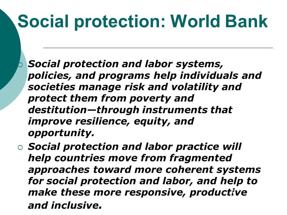 Social protection: World Bank