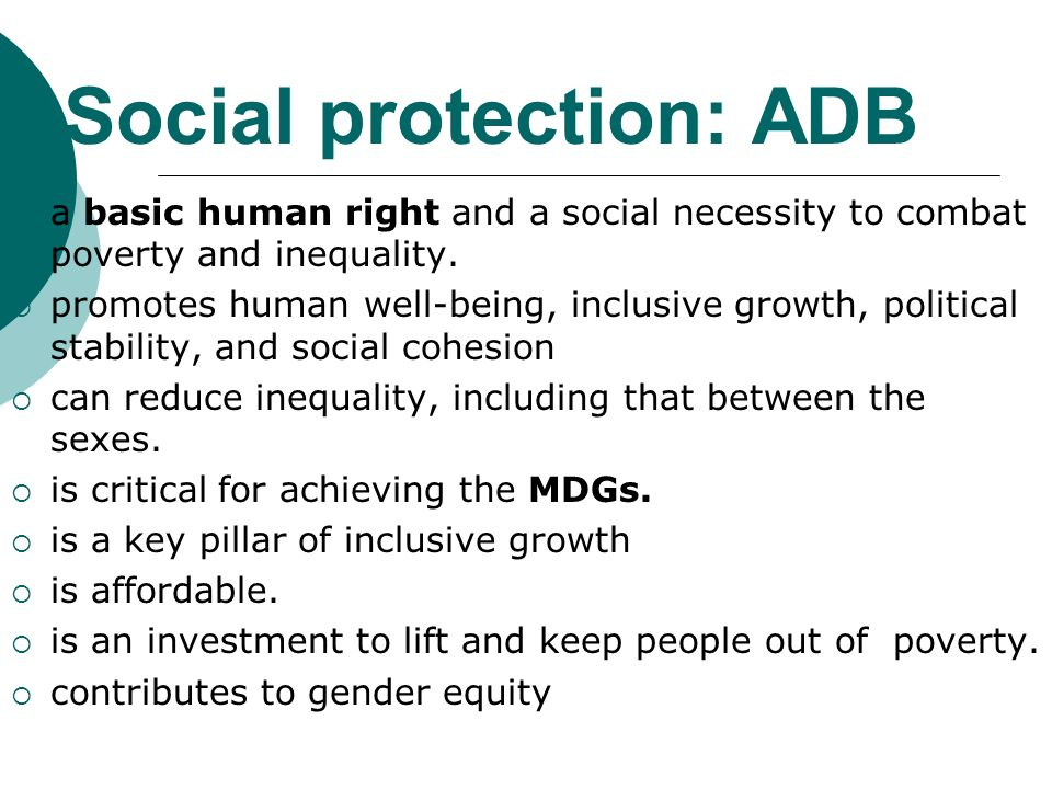 Social protection: ADB