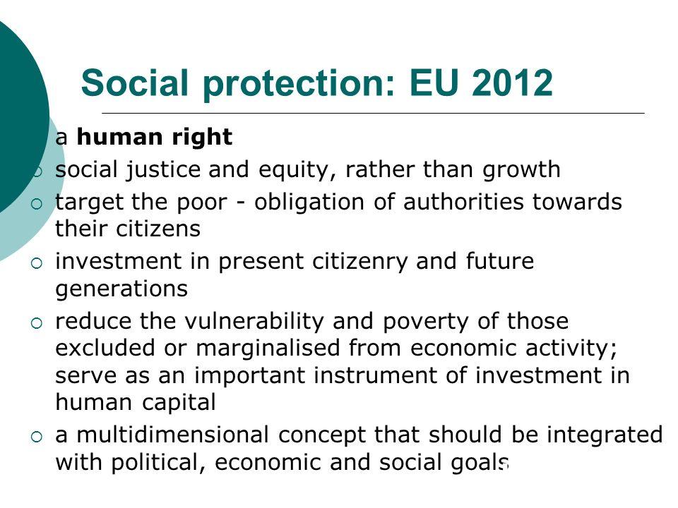 Social protection: EU 2012 a human right