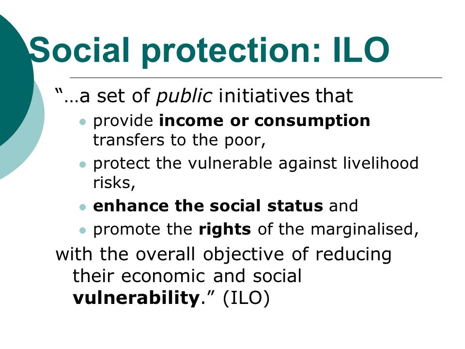 Social protection: ILO
