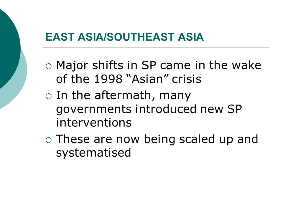 EAST ASIA/SOUTHEAST ASIA