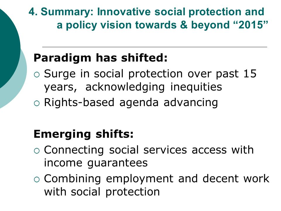 Rights-based agenda advancing Emerging shifts: