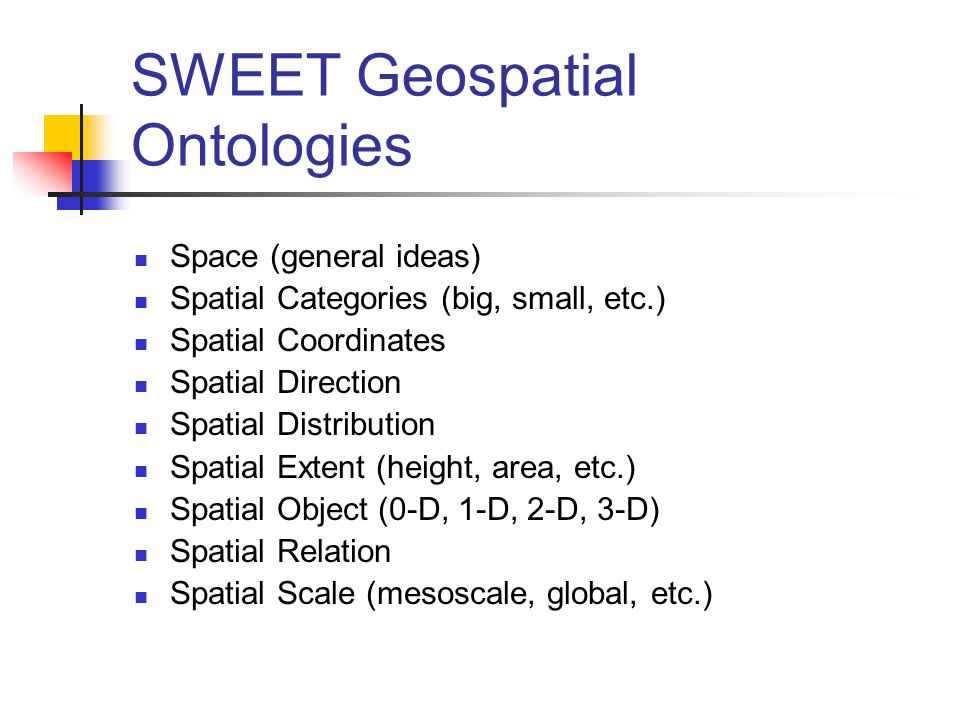 SWEET Geospatial Ontologies