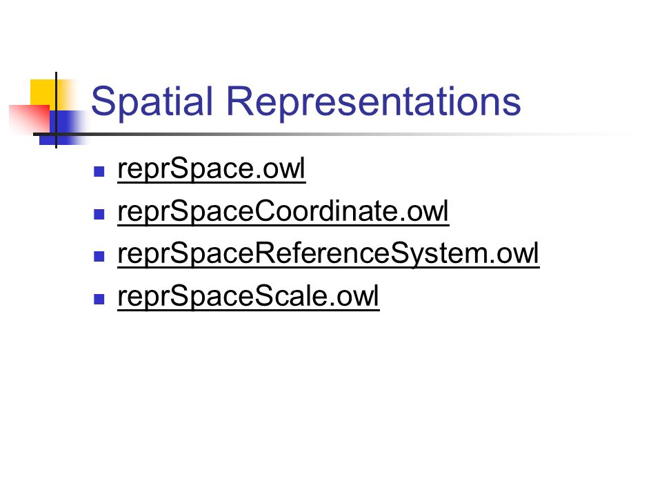 Spatial Representations