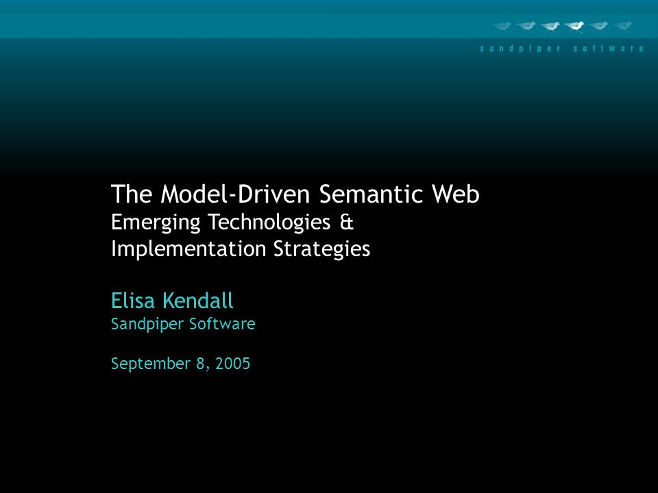 The Model-Driven Semantic Web