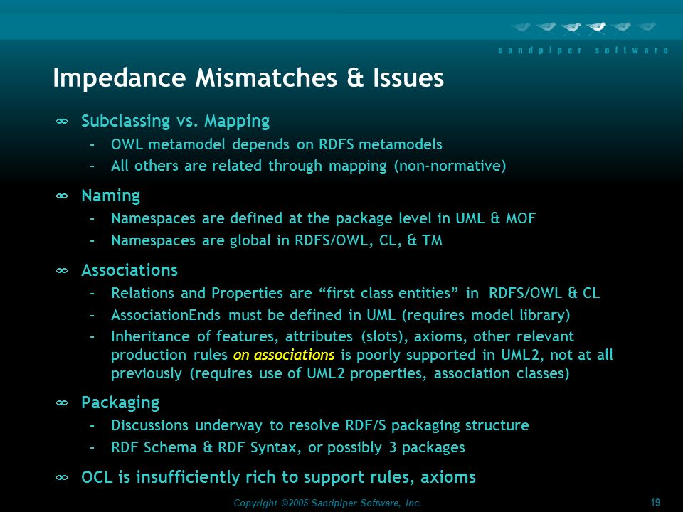Impedance Mismatches & Issues