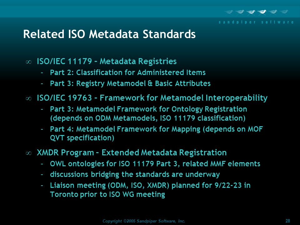 Related ISO Metadata Standards