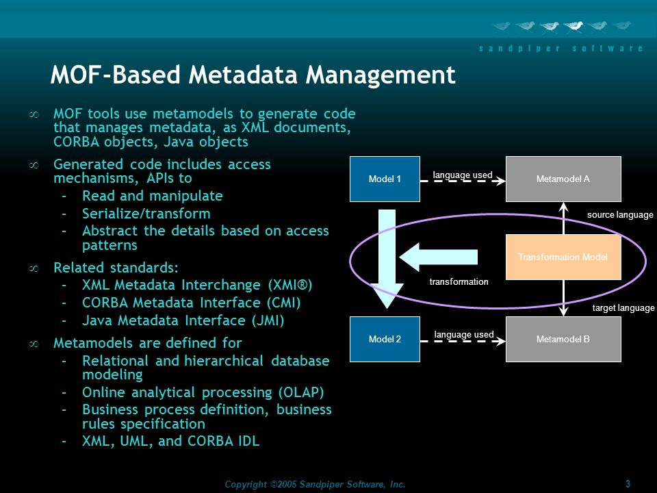 MOF-Based Metadata Management