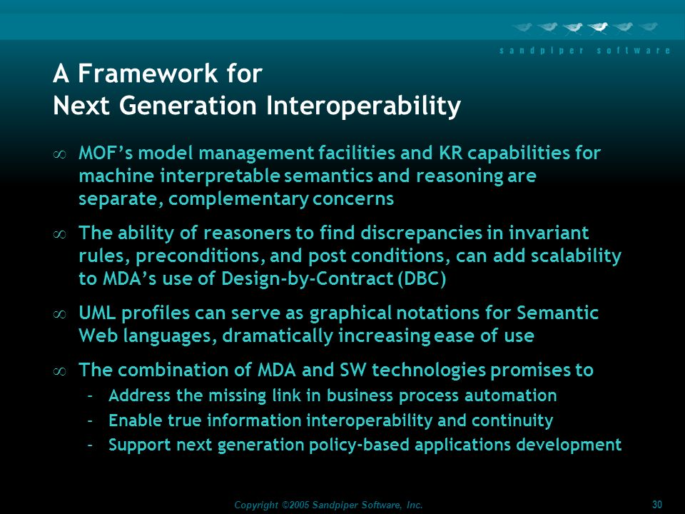 A Framework for Next Generation Interoperability