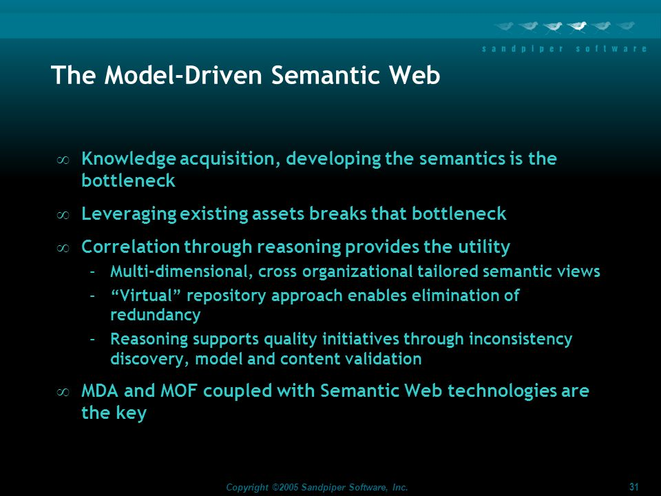The Model-Driven Semantic Web