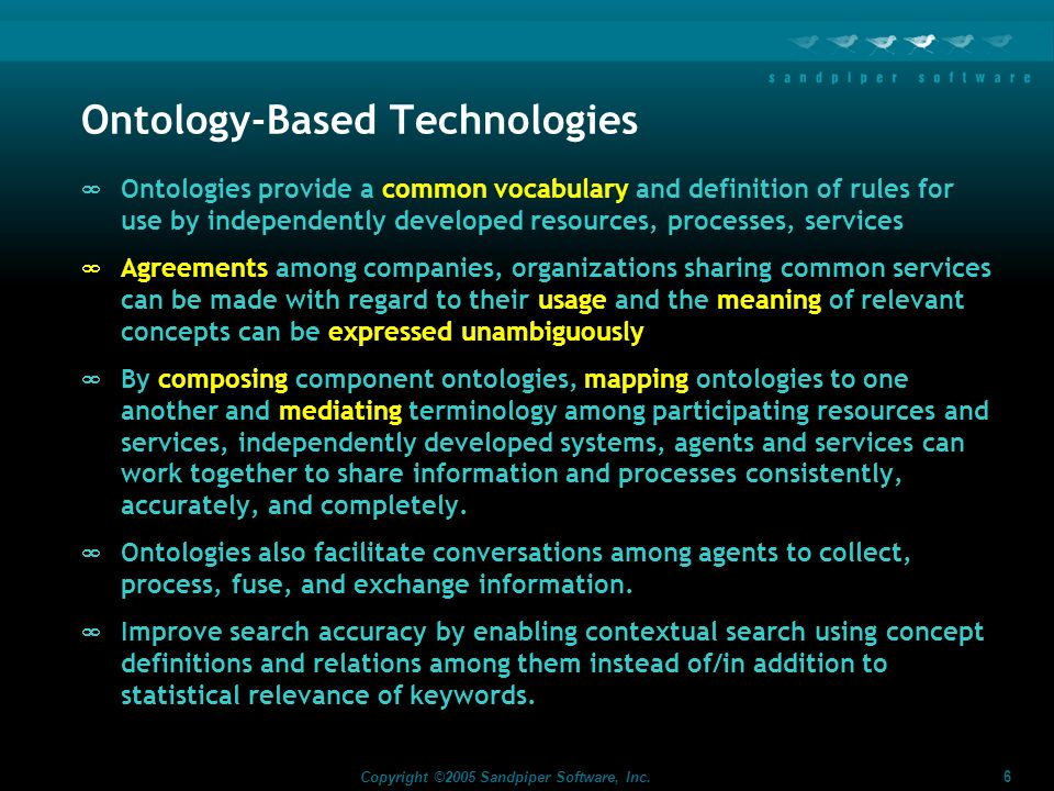 Ontology-Based Technologies