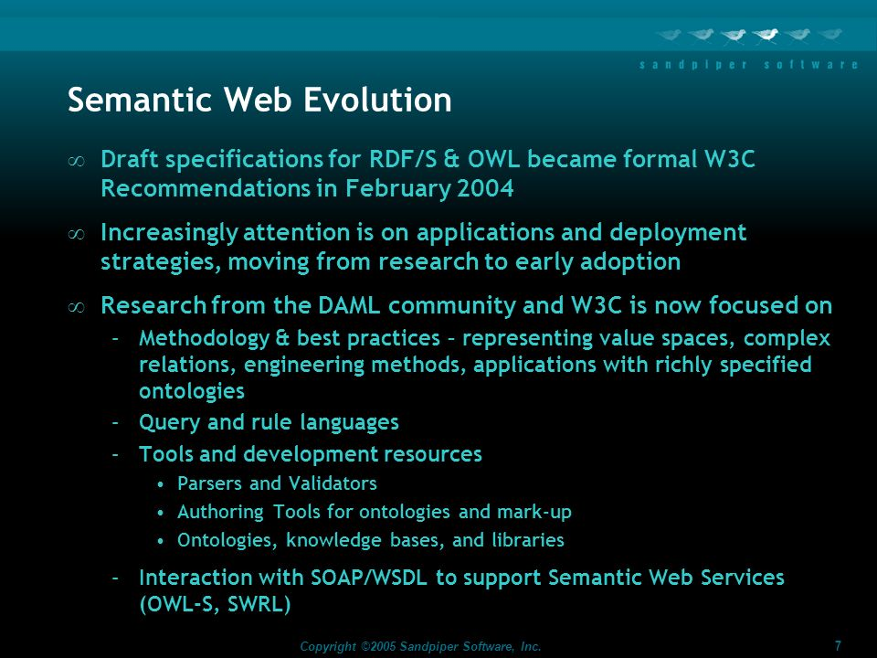 Semantic Web Evolution