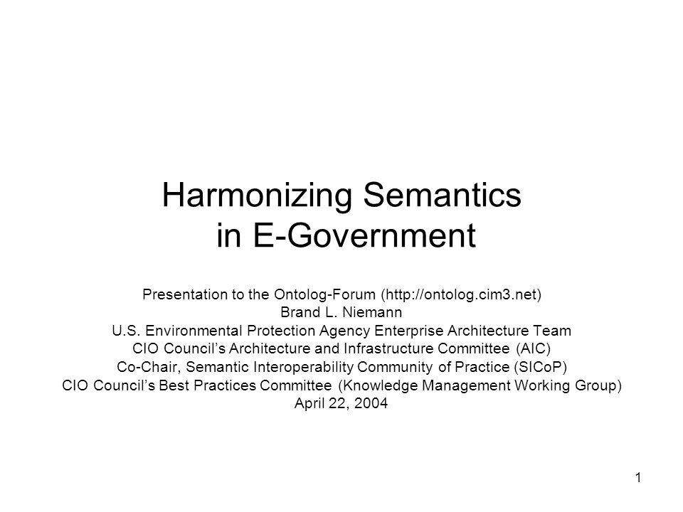 Harmonizing Semantics in E-Government