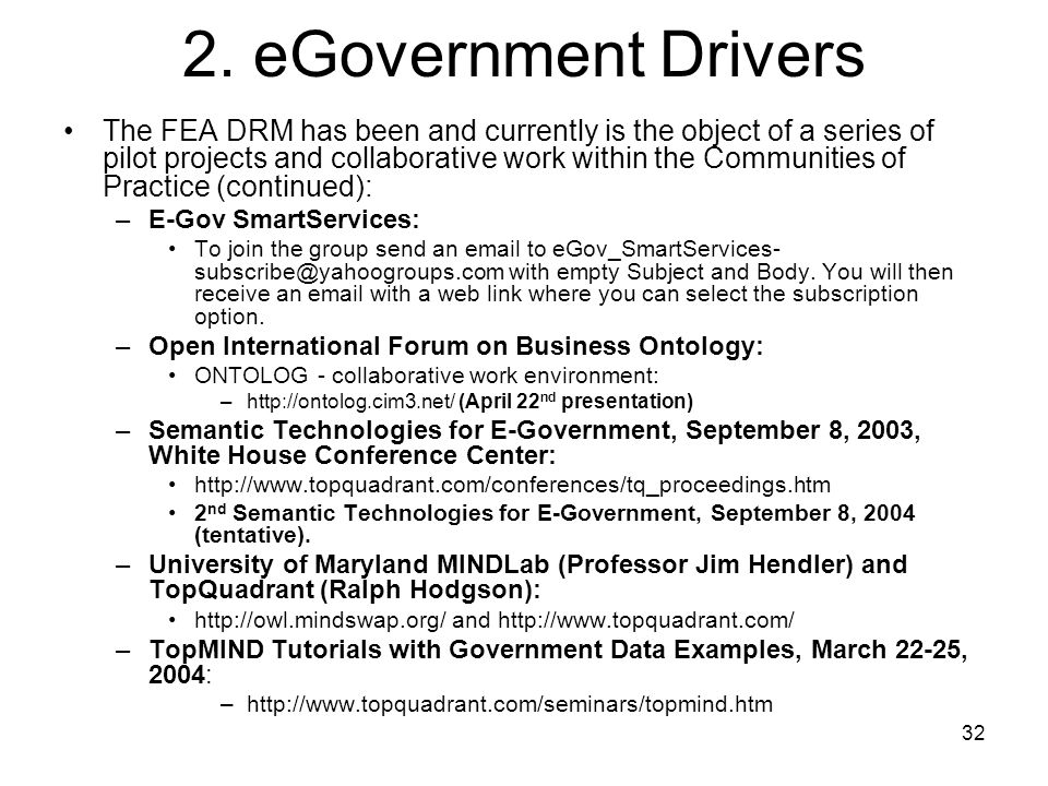 2. eGovernment Drivers