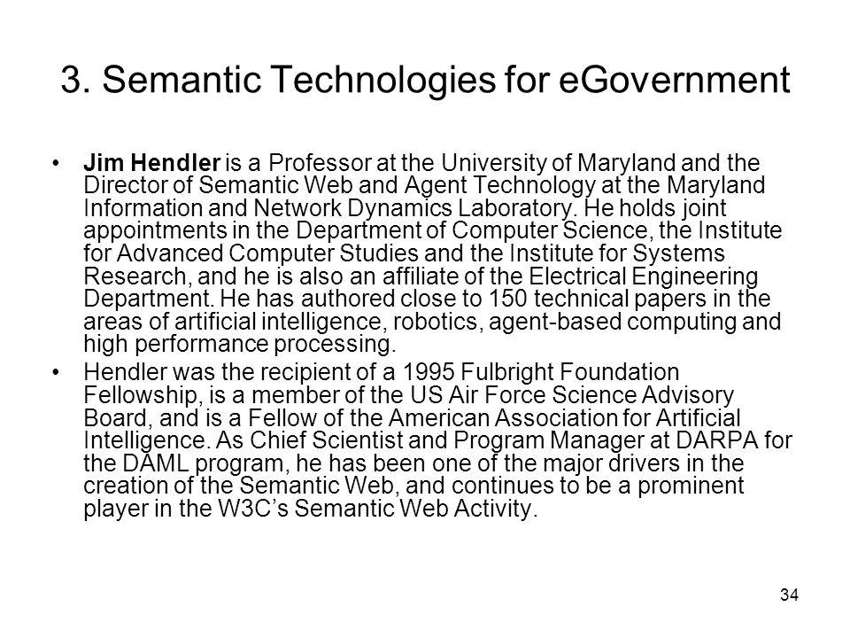 3. Semantic Technologies for eGovernment