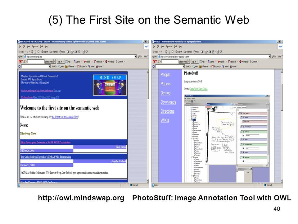(5) The First Site on the Semantic Web
