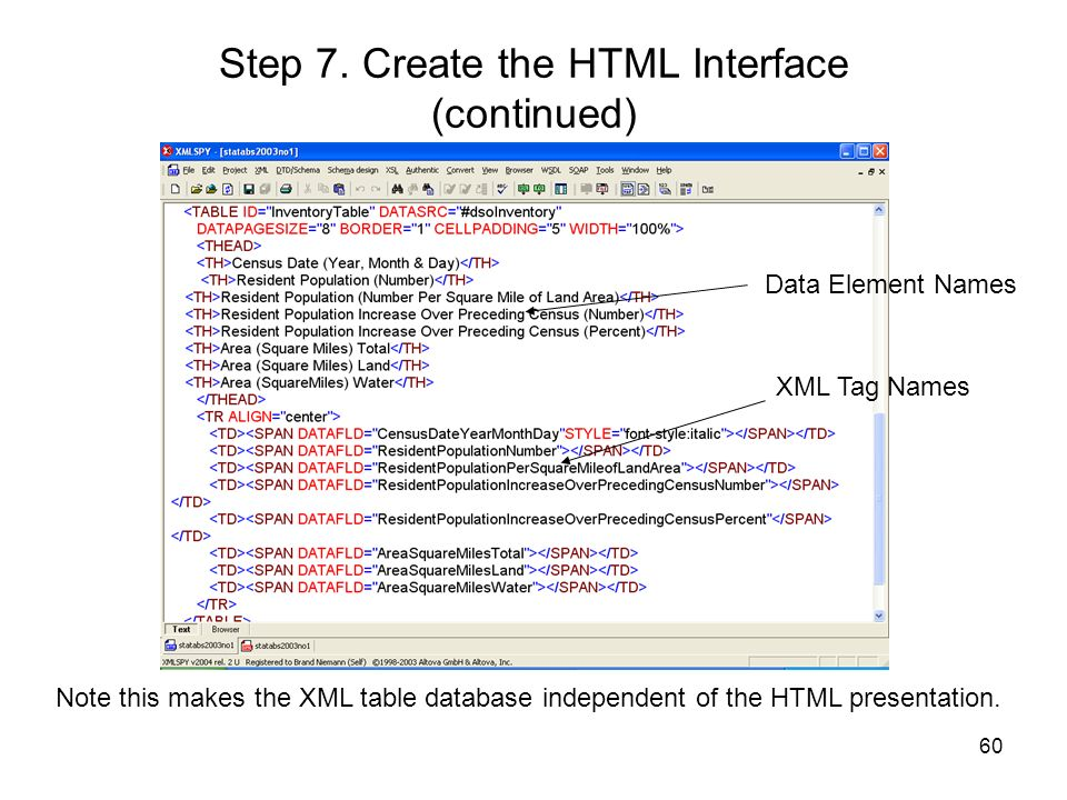 Step 7. Create the HTML Interface (continued)