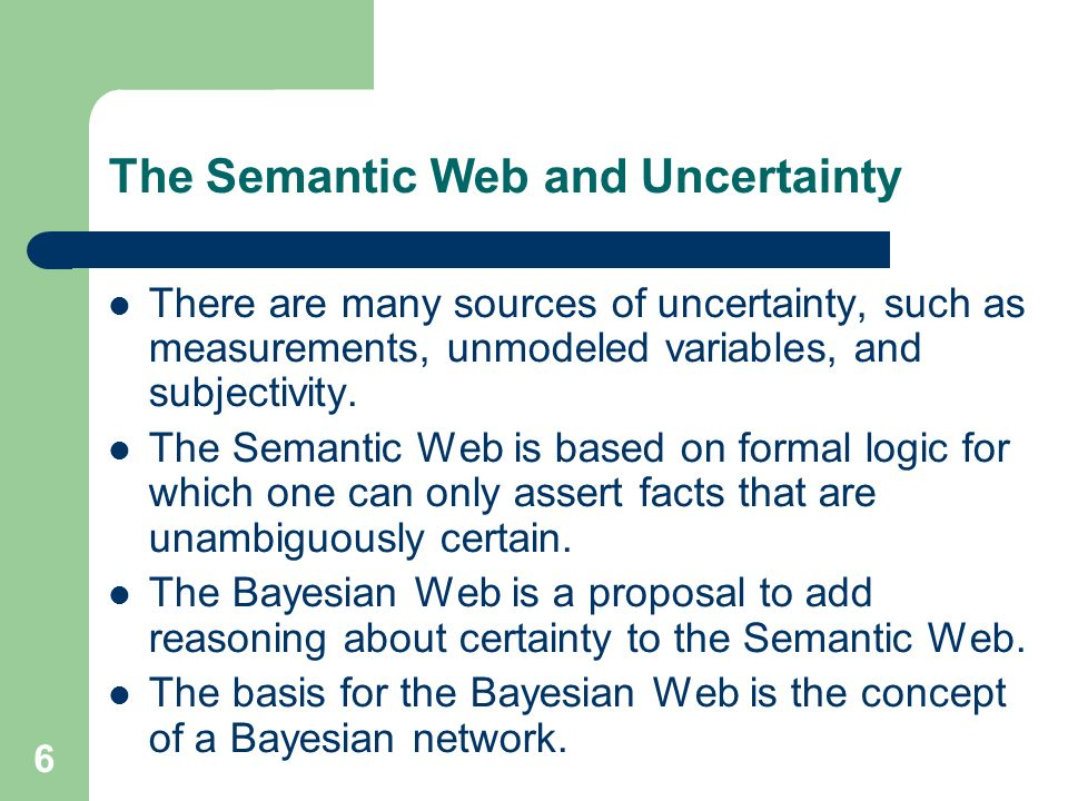 The Semantic Web and Uncertainty