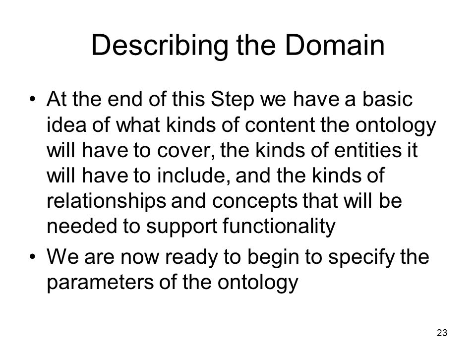 Describing the Domain