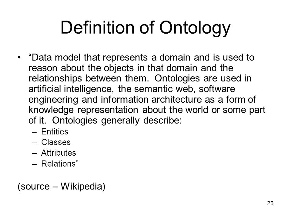 Definition of Ontology