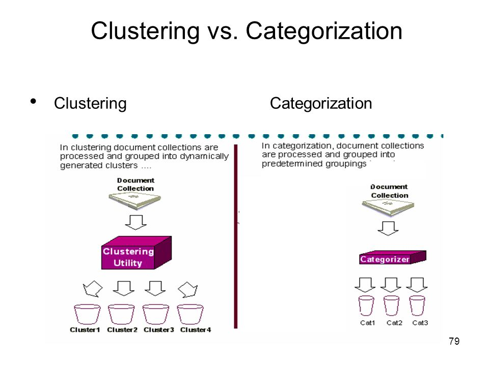 Clustering vs. Categorization