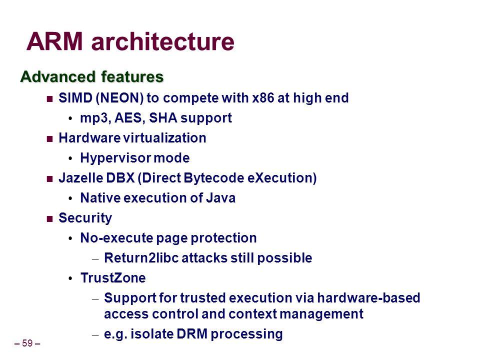 Arm X86 Architecture : Cs advanced topics simd arm ppt video
