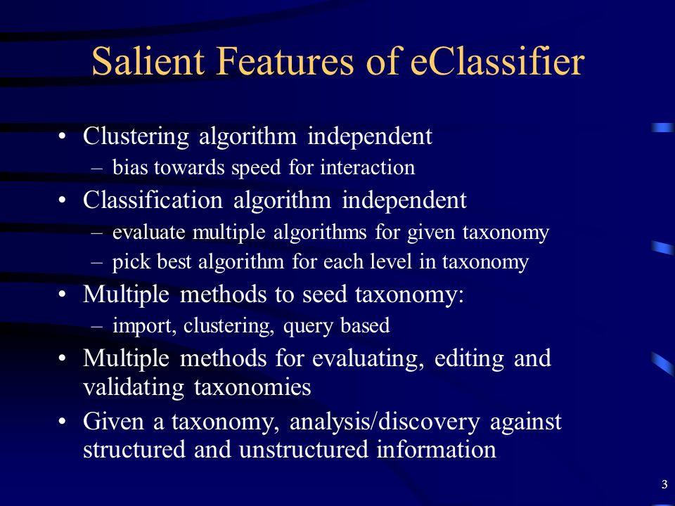 Salient Features of eClassifier