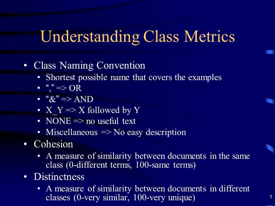 Understanding Class Metrics
