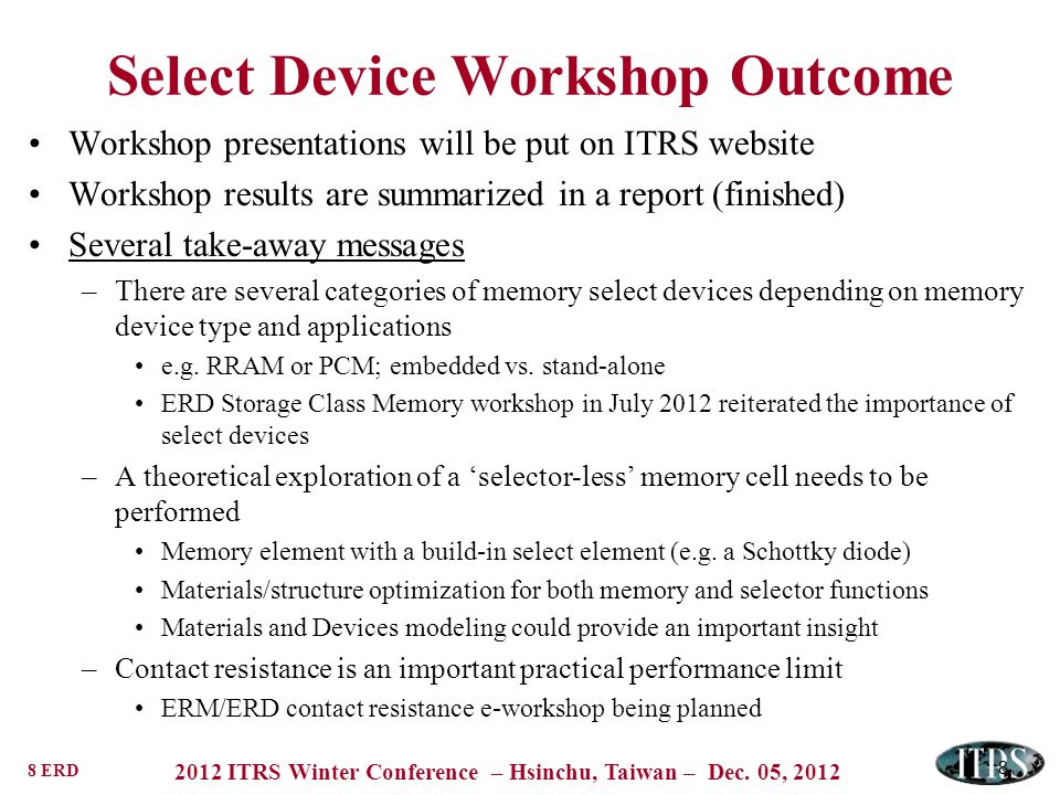 Select Device Workshop Outcome