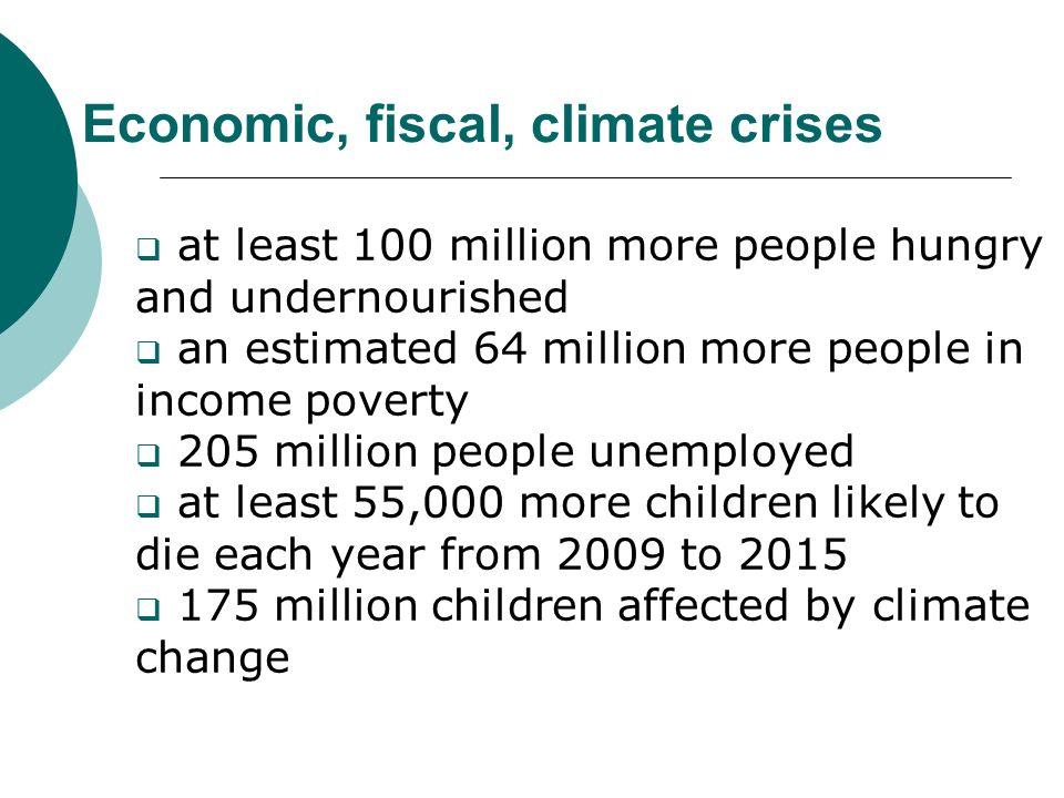 Economic, fiscal, climate crises