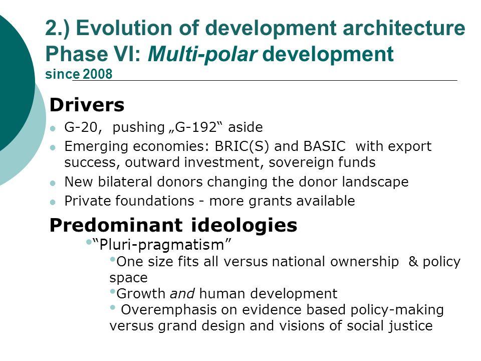 2.) Evolution of development architecture Phase VI: Multi-polar development since 2008