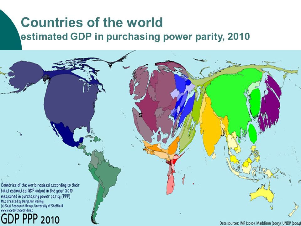 Countries of the world estimated GDP in purchasing power parity, 2010