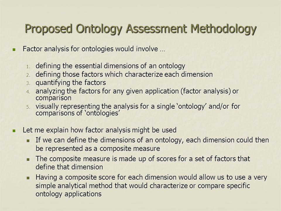 Proposed Ontology Assessment Methodology