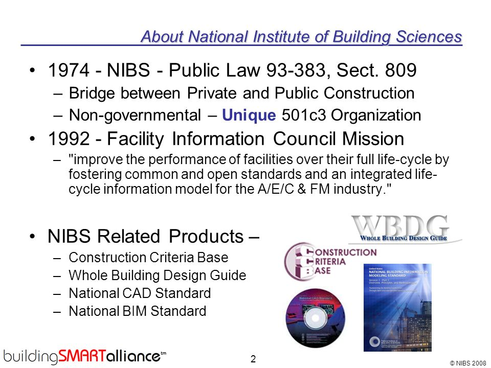 About National Institute of Building Sciences