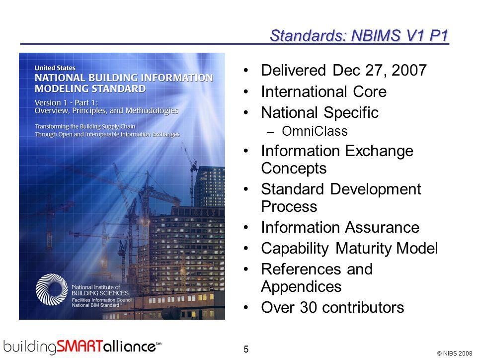 Information Exchange Concepts Standard Development Process