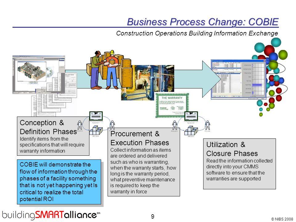 Business Process Change: COBIE Construction Operations Building Information Exchange