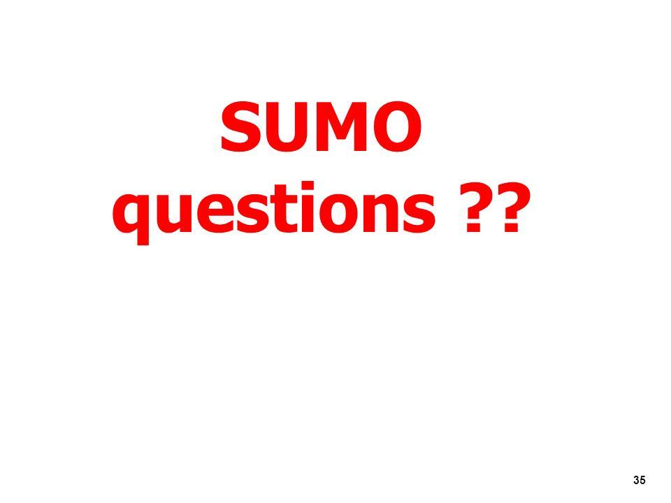 SUMO questions