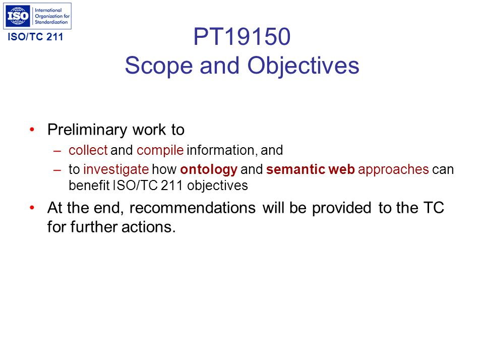 PT19150 Scope and Objectives