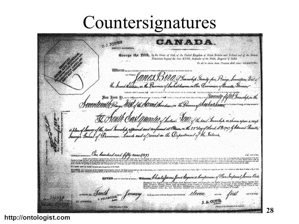Countersignatures http://ontologist.com