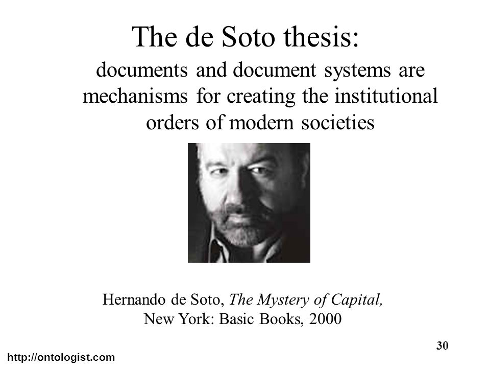 Hernando de Soto, The Mystery of Capital,